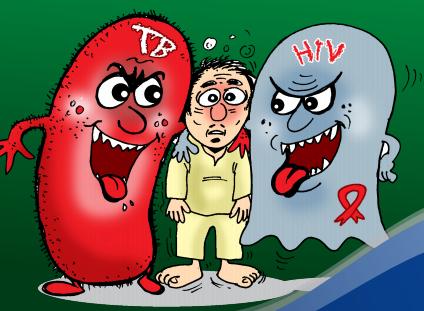 gambar illustrasi tbc hiv